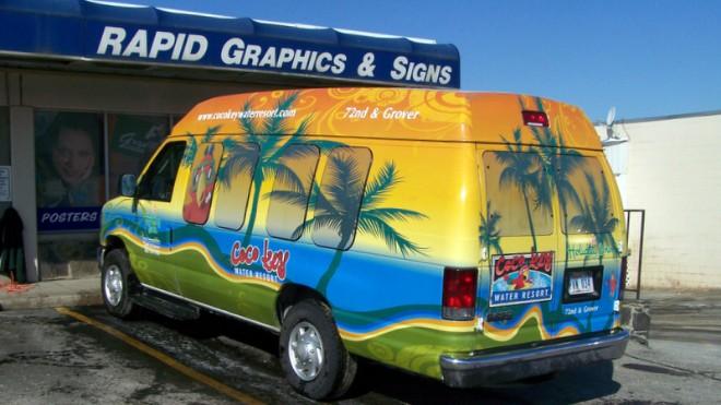 Shuttle Service Van Wrap